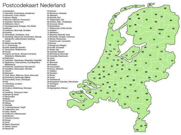 postcodekaart_nederland