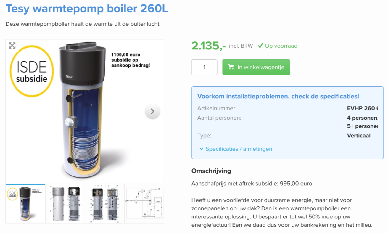 Tesy warmtepomp boiler 260L   BoilerGarant.png