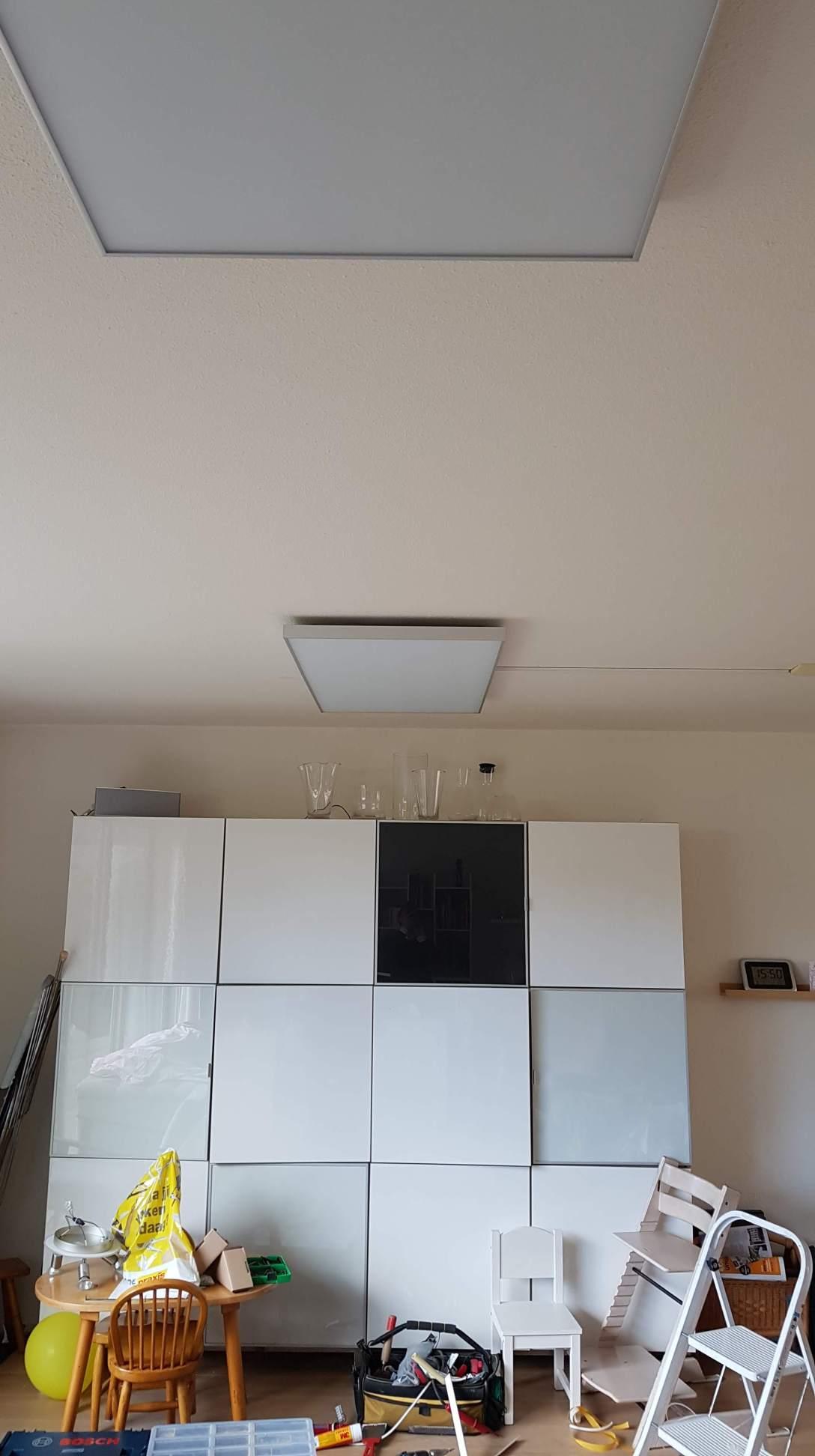 Infraroodpaneel aan het plafond